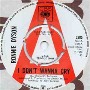 Ronnie Dyson - I Don't Wanna Cry / She's Gone flac download